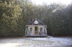 Spotlight On: Cabin on the 9 — Escape Toronto Bedroom Loft, Spotlights, Motel, Cabins, Ontario, Pond, Toronto, House Styles, Blog