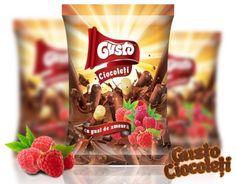 #GustoPufuleți, 100% naturali, sunt îmbracați în glazura de #ciocolată cu lapte și cu #zmeură suculentă și delicioasă! #ciocoleti