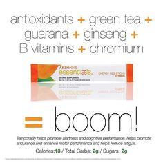 BOOM! jillkay.arbonne.com #vegan #glutenfree #energy #natural #antioxidant #greentea #bvitamins #performance