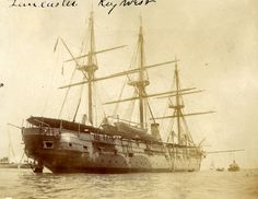 The USS Lancaster was a sloop-of-war in the United States Navy during the American Civil War through the Spanish-American War. The Spanish American War, American Civil War, American History, Sloop Of War, Treaty Of Paris, Vintage Boats, Naval History, United States Navy, Tall Ships