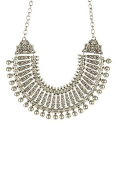 Beaded Tribal Carved Collar Necklace by Chanour Jewelry on @HauteLook
