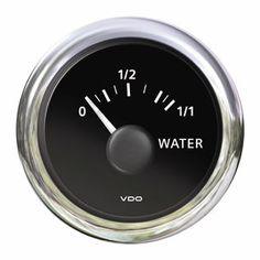 En oferta Reloj Indicador Nivel Agua negro e inox ViewLine VDO 10 - 180 Ohm 52 mm