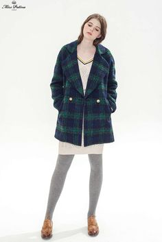 Evergreen Coat (Forest Green) - Miss Patina - Vintage Inspired Fashion