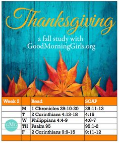 Thanksgiving - Focusing our hearts on gratitude
