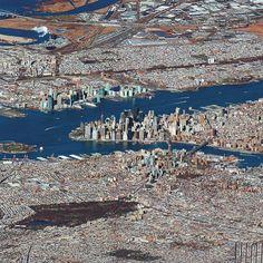 Newyork uydu fotoğrafı