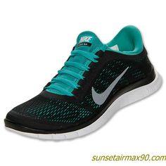 Nike Free 30 V5 Mens Black White Sport Turquoise 580393 014