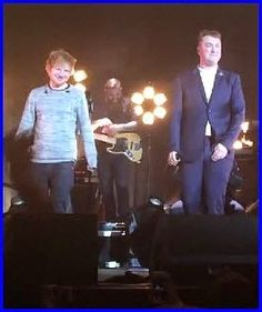 Watch: #EdSheeran Joins #SamSmith Onstage For Surp...
