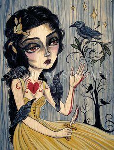 "Sandi Calistro Art greeting card ""7 Ravens"""