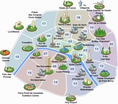 Paris is divided into 20 arrondissements, or districts, that are numbered from the center out in clockwise direction. When traveling around Paris, it is very important to know which arrondissement you are in and where you want to go.