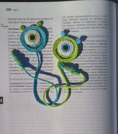 Crochet Bookmark monster Gift ideas for book lovers Crochet Smile Book lover…