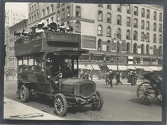 33 Everyday Street Scenes From Late 1800s New York City - Double Decker Bus