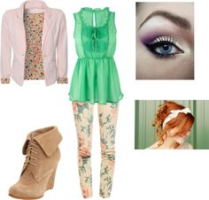 Floral, created by savharper on Polyvore