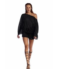 7061148218 Eco luxe linen black swim coverup from Vitamin A Swim. Shop this glam beach  coverup at Azura Bay.