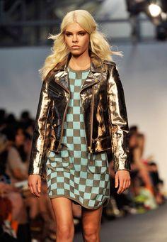 Electric Metallic Color Biker Jacket Trend forSpring Summer 2013.  House of HollandSpring Summer 2013  #Trendy #Fashion