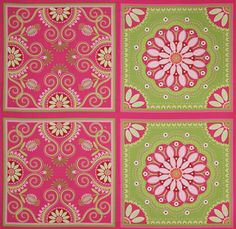 pink Michael Miller fabric Gypsy Bandana big flower  beautiful fabric with big flower pattern from the USA