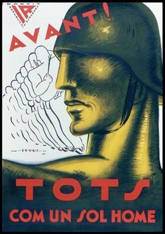 Click any image to enlarge The Spanish Civil War was an ideological conflict that presaged WWII. It pitted fascists, royalists, and con. Party Poster, Poster On, Vintage Signs, Vintage Posters, Spanish War, Ww2 Propaganda, Ww2 Posters, Graphic Illustration, Illustrations