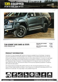#productinfo Galore! Check tjmproducts.com for more info! #getequipped Ford Ranger, Offroad, Check, Off Road