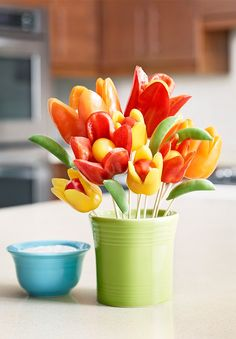Flower Power Bell Peppers and Ranch Dip Dear Hidden Valley-- This is adorable. Love, Mel