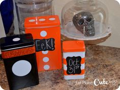 DIY Halloween tins made from TRIPP containers @Ashley Walters & Katelyn Blog!