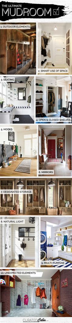 The Curated Cabin | The Ultimate Mudroom Checklist | http://www.curatedcabin.com