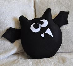 adorable bat pillow! this would be cute for Halloween too.