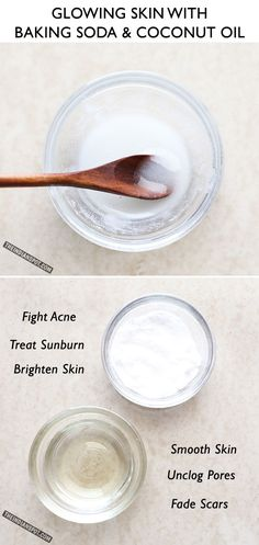 Glowing skin with Baking Soda and Coconut Oil Face Wash