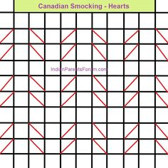 Canadian Smocking tutorials - step by step pictures - hearts design