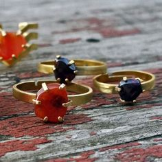 Carnelian or Garnet Adjustable Ring  Pick by ChristinaRoseJewelry