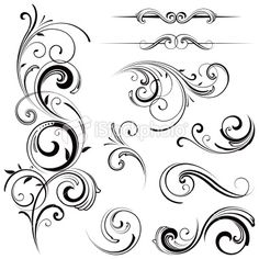 View top-quality illustrations of Elegant Swirling Flourishes. Find premium, high-resolution illustrative art at Getty Images. Graphic Design Illustration, Graphic Design Art, Arabesque, Mago Tattoo, Jeep Tattoo, Decorative Lines, Pinstriping Designs, Pyrography Patterns, Wood Burning Patterns