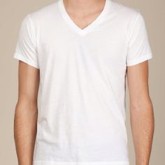 ALTERNATIVE APPAREL  White V-Neck (buy these)     Perfect V-Neck SKU:  04532P1WHS  Overall Rating: 4.9  A customer fave that earns raves for its flawless fit and feel, this perfectly crafted tee features a 1x1 rib v-neck. Made of Pima Cotton and finished with our specialty satin wash for a luxuriously soft feel. Men's regular fit.  USD 36.00