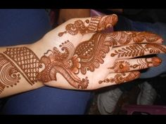 Eid Henna Mehendi 2014:Best Arabic Bridal Design Mehndi For Teej & Karwa Chowth - YouTube