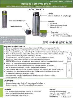 Fiche Produit Tupperware: Bouteille Isotherme 500ml