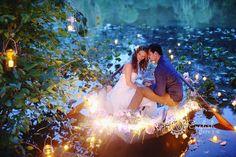 ボートで結婚式!?映画のようなロマンチックなウェディングフォト♪ | 結婚式準備ブログ | オリジナルウェディングをプロデュース Brideal ブライディール