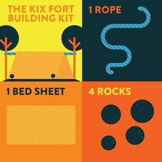 Outdoor Fort Building Kit: Do your kids love building forts? Keep this kit on hand for building a quick and easy outdoor fort