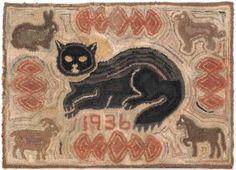 American hooked rug, 1936