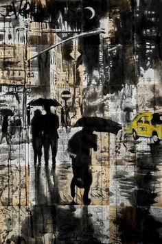 "Saatchi Art Artist Loui Jover; Drawing, ""city noir"" #art"