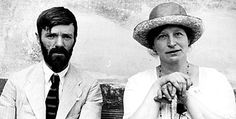 D.H. Lawrence and Frieda  When Lawrence met his future wife and muse, she was married with three children, which didn't stop them from eloping and spending the rest of their lives together