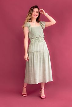 Retro Outfits, Girl Outfits, Casual Outfits, Wedding Dress Clothes, Skirt Outfits Modest, Summer Fashion Outfits, Women's Fashion, Frock Dress, Looks Chic