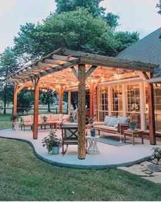 The pergola you choose will probably set the tone for your outdoor living space, so you will want to choose a pergola that matches your personal style as closely as possible. The style and design of your PerGola are based on personal Backyard Patio Designs, Backyard Landscaping, Landscaping Ideas, Backyard Pergola, Backyard Porch Ideas, Outdoor Pergola, Backyard Projects, Patio Ideas Country, Wood Pergola
