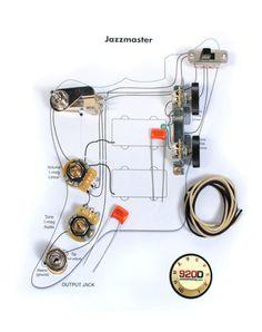 Fender Vintage Jazzmaster Wiring Kit - Pots Switch Slider Caps Bracket Diagram   Reverb