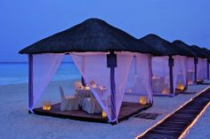 The Ritz Carlton Hotel Cancun - We had dinner in these !!