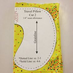 Sewing Pattern For Travel Pillow: Free!!!) Child Travel Pillow Sewing Pattern   Christen Noelle    ,