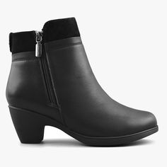 Women's Ankle Boots Office in Leather Black – Comfy Moda Office Outfits Women, Black Office, Low Heels, Looking For Women, Winter Boots, Ankle Booties, Booty, Clothes For Women, Stylish