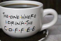 The One Where I Drink The Coffee-Friends TV Show-Coffee Mug-Colorful-16 oz coffee mug