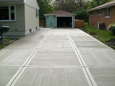 There are some different choices of driveway ideas you can take into account. How about Concrete driveway design ideas? Concrete Patios, Cost Of Concrete Driveway, Modern Driveway, Concrete Patio Designs, Driveway Design, Driveway Ideas, Concrete Blocks, Backyard Patio, Backyard Landscaping