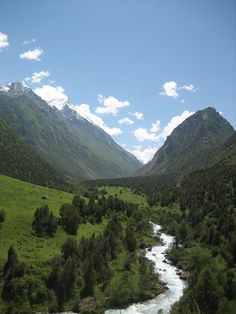 Hiking in the mountains outside Bishkek, Kyrgyzstan.  I did some hiking in the mountains there, gorgeous!