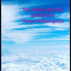 Love is the greatest power in existence Its presence can be deeply felt wherever it resides and can overcome everything Love can magnificently transform intricate situations to the better Sending love to you Love Can, Just Go, Great Power, Reese Witherspoon, Nikon, Felt, Sky, Blue, Photography