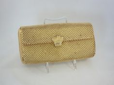 Vintage Gold Metal Clutch Evening Bag Purse by RevivedTraditions, $12.00