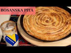 Najbolja bosanska uckur pita / Bosnish cheese pie - YouTube Cheese Pies, Hummus, Quiche, Deserts, Make It Yourself, Cake, Ethnic Recipes, Youtube, Chef Recipes