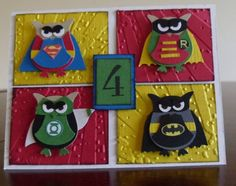 """AWEsome card idea, using the Stampin' Up! """"Build A Owl"""" Punch"""
